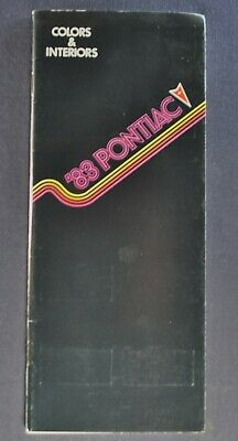 1983 Pontiac Interior & Colors Brochure Firebird Trans Am Grand Prix Bonneville