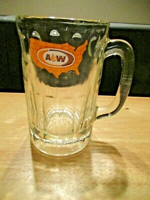 1970's A & W Root Beer Large United States Map Logo Mug