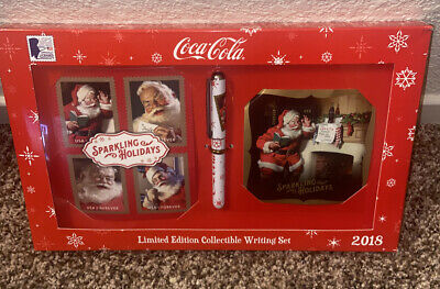 Coca - Cola Limited Edition Collectible Writing Set 2018 & Stamps