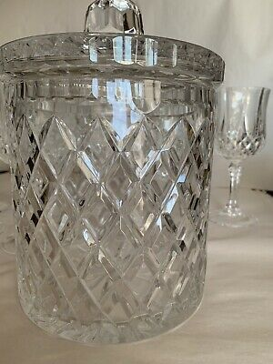 Two Sets Of 6 Wine Glasses And Ice Bucket