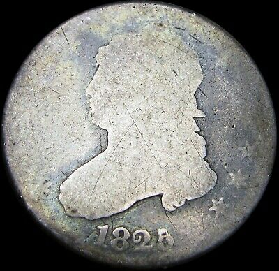 1825 Capped Bust Quarter Dollar Silver Type Coin --- NICE ---- #Z789