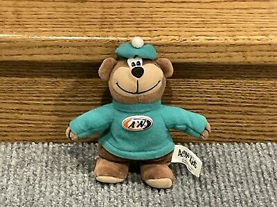 Vintage A&W Bear Plush Promotional Stuffed Animal Advertising Restaurant 1998