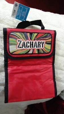 Lunch Bag Red ZAC Zachary Kids School Personalised Hologram Insulated eco