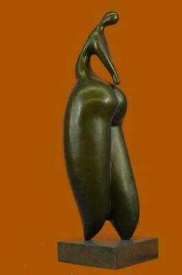 Handcrafted Botero Tribute Curvy Female Bronze Sculpture Marble Base Statue SALE