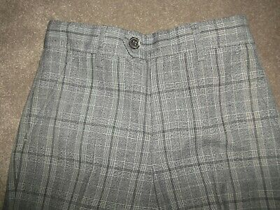Next Boys Checkered Trousers. Grey Worn Once. Size 11 Years