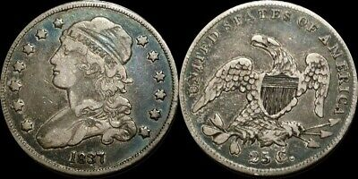 1837 Capped Bust Quarter B-5 R5 ~ Very Attractive Coin