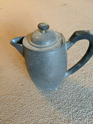 English Pewter Jug - with black handle