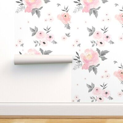 Wallpaper Roll Floral Flowers Boho Shabby Chic Fall Autumn Winter 24in x 27ft