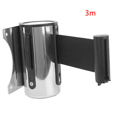 Sport Red Belt Retractable Ribbon Barrier Stainless Steel Wall Mount 2m/ 5m