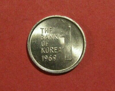 South Korea 1969 1 Won unc Coin