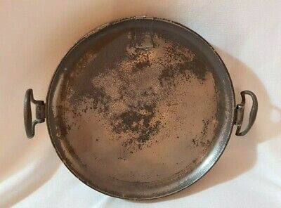 Antique Pewter Warmer Plate