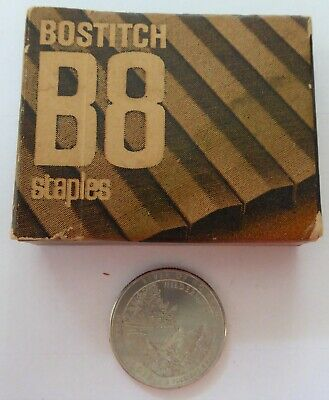 Vintage Bostitch B8 Staples Chisel Pointed & Crowned USA SB8-IM Almost Full Box