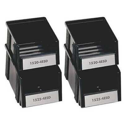 TRESTON SBS4-2ESD Assorted Size ESD Stacking Bins,Blk,PK4
