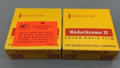 Kodachrome II Color Movie Film 16mm Rolls (2) Vintage Old Stock - Fast Ship E41