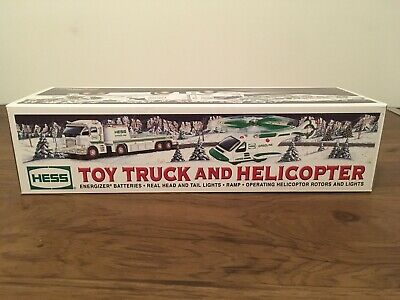 Brand New 2006 Hess Toy Truck and Helicopter Holiday Set