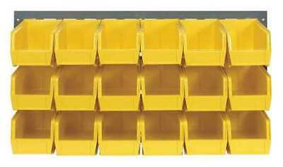 QUANTUM STORAGE SYSTEMS QLP-3619-230-18YL Louvered Panel,36 x 11 x 19 In,Yellow