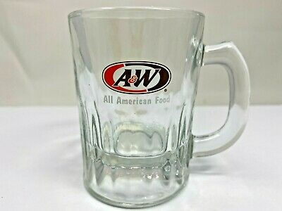 A & W Root Beer MIni Child's Glass Mug 3 1/4""