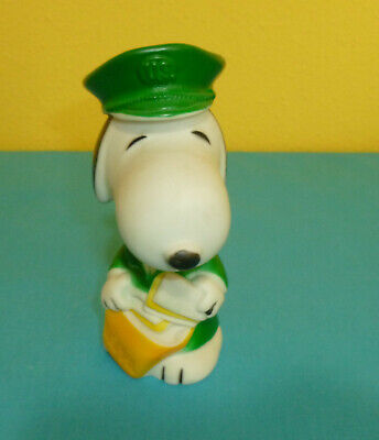 Snoopy Rubber Squeak Toy Mailman US Mail Delivery Peanuts Gang