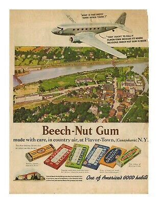 Vintage 1939 Shell Gas and Beech-Nut Gum Ads from Colliers 7/15/1939