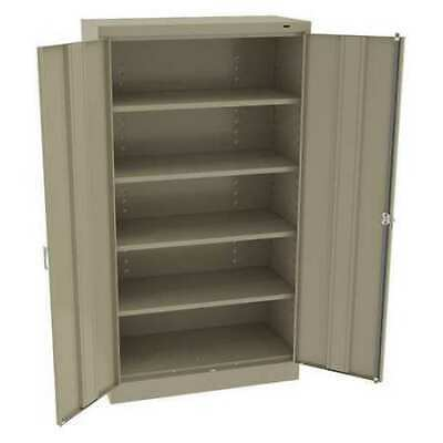 TENNSCO 6618DHSD Stge Cabinet,Sand,36in.Wx18in.Dx66in.H