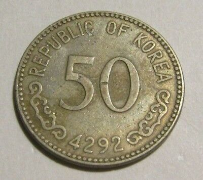 South Korea 1959 50 Hwan Coin