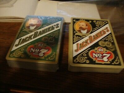 two packs of jack daniels playing cards
