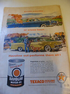 1956 Advertisement Havoline Motor Oil Texaco Dealers Out-performs them all