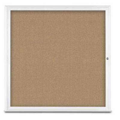 UNITED VISUAL PRODUCTS UV800348-WHITE-BUFF Single Door Radius
