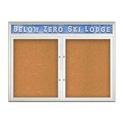 UNITED VISUAL PRODUCTS UV8013PLUS-SATIN-CORK Double Door Radius Plus