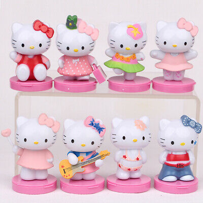 8Pcs Hello Kitty Set PVC Action Figure Kids Xmas Toys Gift