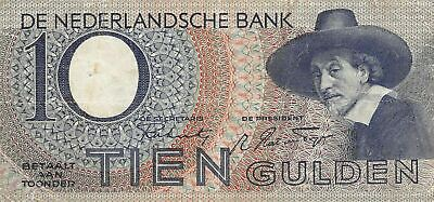 Netherlands  10  Gulden  6.11.1943  Series  6 BJ  Circulated Banknote CCB