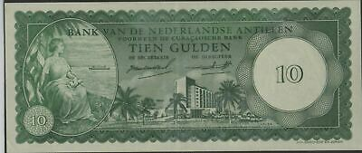 Netherlands Antilles  10 Gulden  2.1.1962  P 2a  Circulated banknote