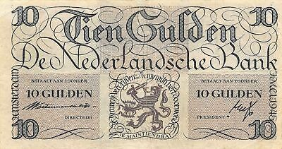 Netherlands  10  Gulden  7.5.1945  P 74  Series  5 BK  Circulated Banknote FB