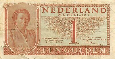 Netherlands  1  Gulden   8.8.1949   P 72  Series  3CB  Circulated Banknote ME3