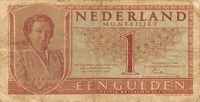 Netherlands  1  Gulden   8.8.1949   P 72  Series  1HC  Circulated Banknote ME3