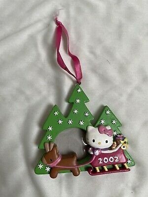 Hello Kitty Christmas Tree Ornament Picture Frame 2002
