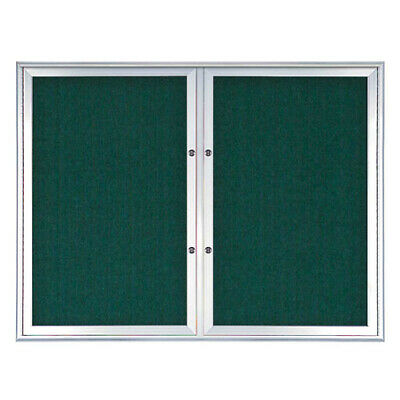 UNITED VISUAL PRODUCTS UV8002PLUS5-SATIN-DRKSPR Double Door Radius Plus