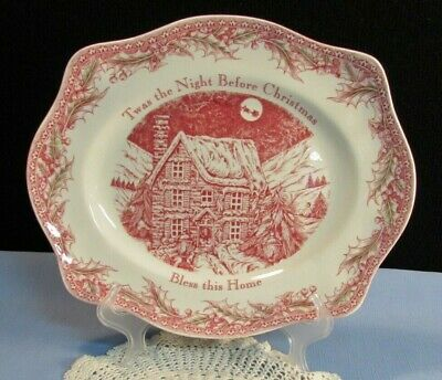 Johnson Brothers Twas The Night Before Christmas Heart Shaped Dish New In Box 24 95 Picclick