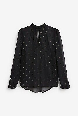 Ex Ladies 6-20 Pink Triangle Print Lace Insert 3//4 Sleeve Work Casual Blouse Top
