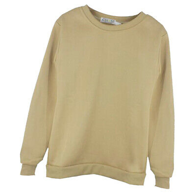 Homme à encolure ras-du-cou Sweat Pull-over Pull Casual Jersey Uni Polaire Sweat