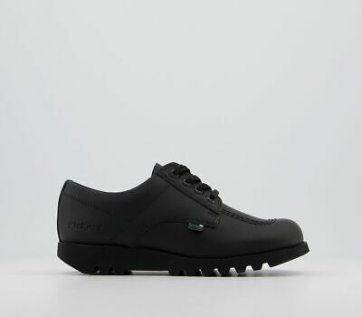 Details about  /KICKERS KICK LO Y CORE Youth Ladies Leather Lace-Up Shoes Black