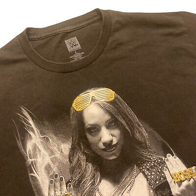 """WWE Bayley /& Sasha Banks /""""All The Gold/"""" Authentic T-Shirt *NEU* Official"""
