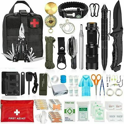 29 in 1 Emergency Kit Camping Survival Gear Climbing EDC Outdoor Tactical Tools