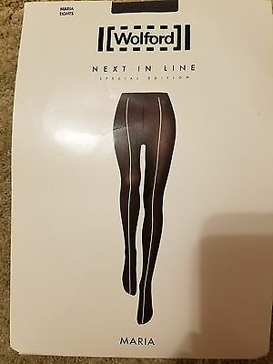 WOLFORD Next in Line Special Edition Maria Tights Ridge//Black BNIP