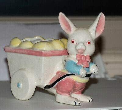 Details about  /Vintage Annalee Bunny With Flower Pot