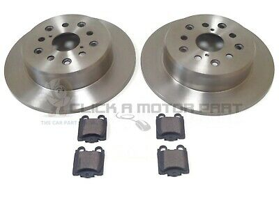 Lexus Is200 Gs300 Gs430 1999-2006 Rear 2 Brake Discs And Pads New Set