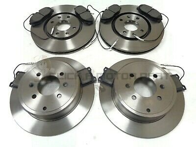 PEUGEOT 406 2.0 HDi ESTATE 1996-2004 FRONT AND REAR BRAKE DISCS & PADS SET NEW
