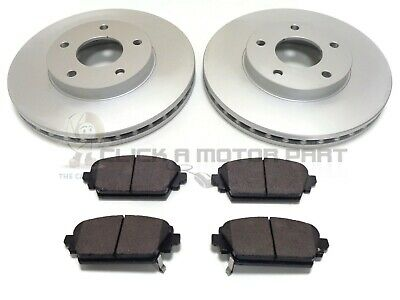 FOR NISSAN PRIMERA P12 1.6 1.8 2.0 2.2 DCi 02-06 FRONT 2 BRAKE DISCS AND PADS