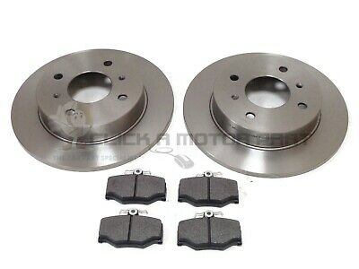 FOR NISSAN PRIMERA P11 2.0TD 2.0 GT REAR 2 BRAKE DISCS AND PADS SET NEW (278mm)