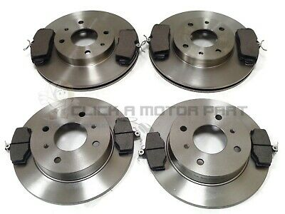 For Nissan Primera P11 1.8 2.0 98-02 Front & Rear Brake Discs And Pads Set Abs